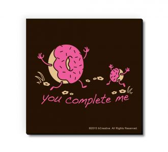 Fabulous You Complete Me Doughnut Fridge Magnet Made By Using Paper