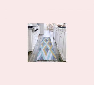 Multicolor Cotton Floor Covering Akira Runner