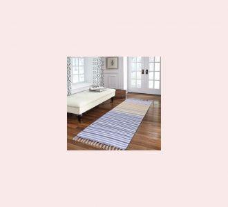 Dark Multicolor Cotton Floor Covering Daniel Runner
