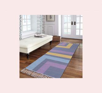 Multicolor Cotton Floor Covering Mandini Runner