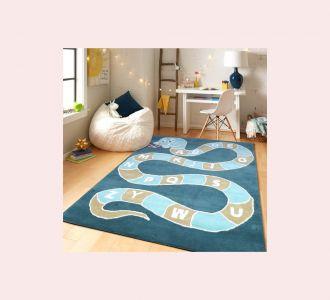 Snake Ladder Hand Tufted Wool Kids Carpet - Rectangle