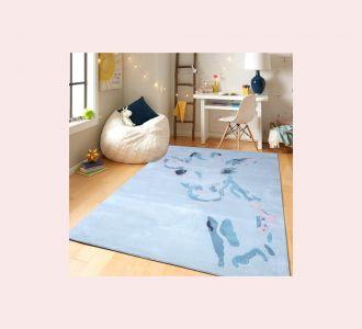 Giraffe Pattern Hand Tufted Wool Kids Carpet - Rectangle