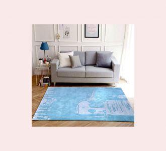 Wonder The Car Hand Tufted Wool Kids Carpet - Rectangle