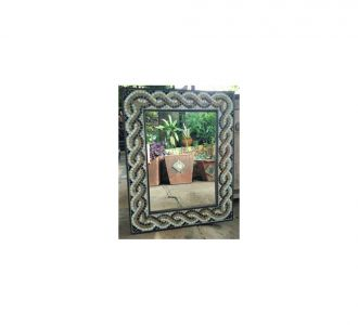 Guilloche Border Stained Glass Mosaic Mirror