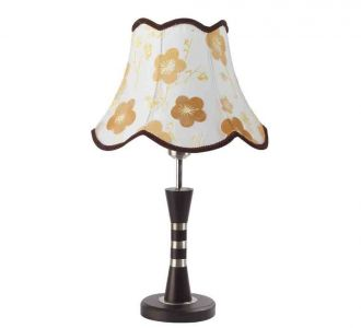 Alluring Bell Shaped Floral Printed Color Designer Lighting Table Lamp 60W And Led Compatible
