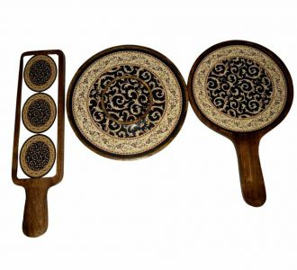 Magnificent Thali Platter Made Of Mango Wood And Resin