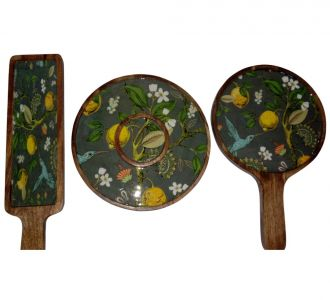Excellent Thali Platter Made From Mango Wood And Resin.