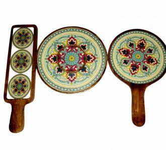 Awesome Thali Platter Encompassing Mango Wood And Resin