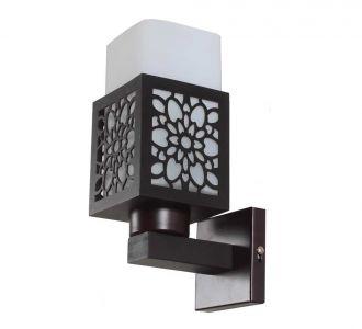 Classy Lighting Contemporary Glass Metal Wood Wall Light