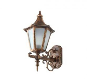 Antique Gold Vintage Outdecor Lighting Exterior Wall Light For Balcony Garden Wall 60W Cfl And Led